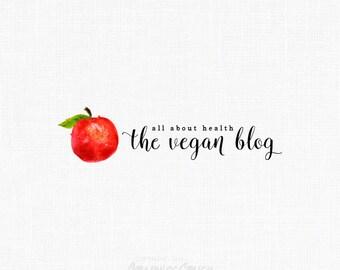 Food Logo Fruit Clipart Blog Logo Vegan Logo Chef Logo