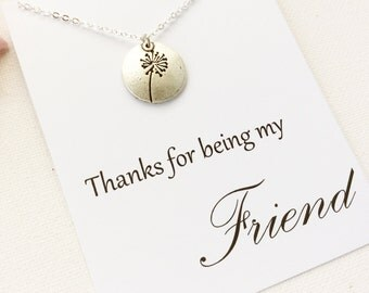 Friends necklace, thank you gift, friends jewellery, friend jewellery, friends, friend necklaces, bridesmaid gift, BMCNUNFRIE4