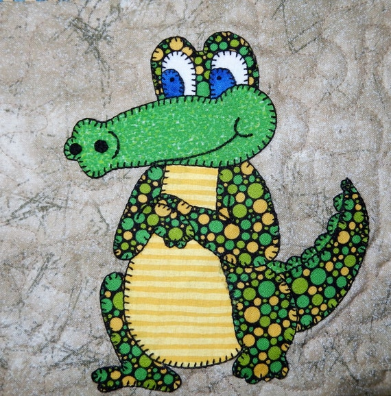 Crocodile Or Alligator Pdf Applique Pattern Zoo By