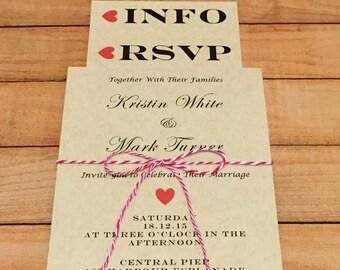 Rustic Wedding Invitation | Wedding Invitation Suite | Wedding Invitation Set | Wedding Invites | RSVP Postcard | Info Card