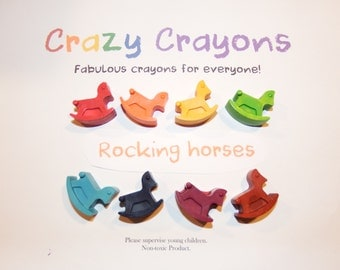 Rocking Horse Crayons! Set of 8