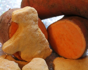 Sweet Potato Pups with Apple, healthy snack for dogs, treat, gluten-free option, natural, made-from-scratch, low fat, tasty, biscuit