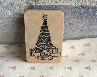 Christmas Tree Stamp, Christmas Rubber Stamp, rubber stamp, Christmas Tree, Stamp, Ink Stamp, Crafting Stamp, Christmas Ornament, Stamp