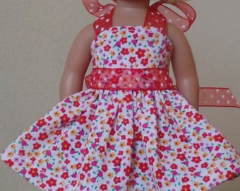 "6"" mini doll clothes:  halter sundress"
