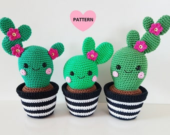 Cactus Friends PDF Pattern, amigurumi, crochet