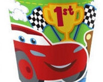 Cars 1st Birthday Paper Cups 8ct