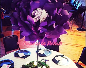Paper flower centerpieces| 36 inch inch paper flowers on stems