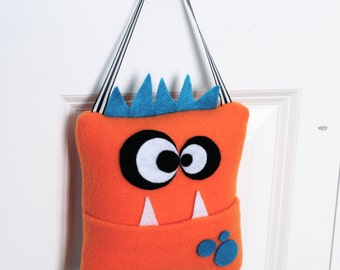 Monster Tooth Fairy Pillow- Orange
