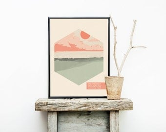 National Park Poster - Great Smoky Mountains - Wedding Gift - Mountain Art – Travel Poster – Hiker Gift – Tennessee Print – Tennessee Art