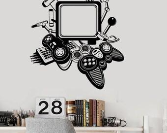 Wall Vinyl Decal Gamer Gaming Joysticks Cool Decor 2346di