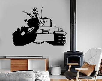 Wall Vinyl Tank Military Forces War Guaranteed Quality Decal Mural Art 1632dz