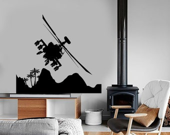 Wall Vinyl Helicopter Air Force Military Guaranteed Quality Decal Mural Art 1648dz