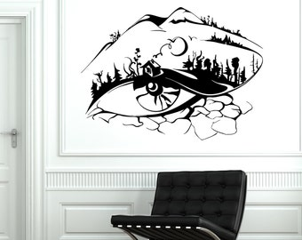 Wall Vinyl Eye Tree Forest Landscape For Bedroom Mural Vinyl Decal Sticker 1778dz