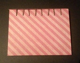 Striped Belgian Bound Note Book