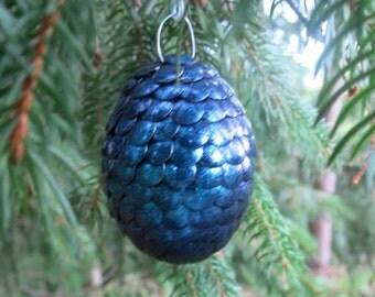 Dragon egg ornament - blue