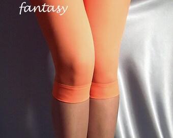 Orange thin short spandex leggings