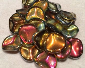 Rose Petal Beads, 14x13mm, Crystal Marea, 00030-28001, 25 Beads, Czech Glass