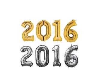 """16"""" Gold 2016 balloons/banner. Class of 2016. Graduation balloons. 2016 graduation. 2016 BALLOONS. College graduation. Highschool graduation"""