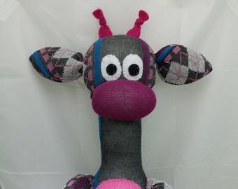 Custom Handmade Giraffe Sock Animal