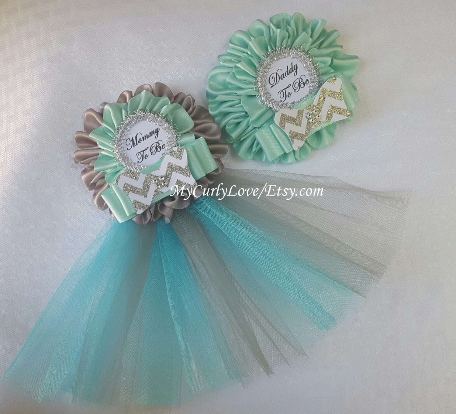 Bow Tie Baby Shower Mommy to be Corsage Bow Tie Baby Shower