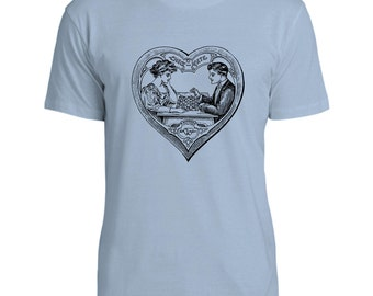 Mintage Check Mate Love  Mens Fine Jersey T-Shirt