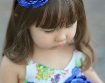 Blue Headband, Flowergirl headband, Easter hair accessories, Spring headband,  Royal Blue headband, Wedding headband