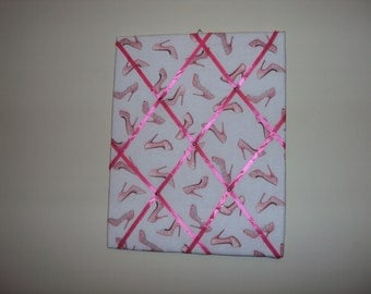 16x20 Pink Memory board with pink high heel shoes on it. 022