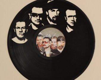 U2 Vinyl Record Wall Art