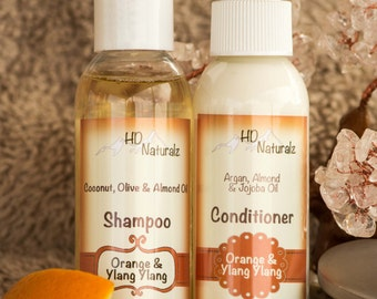 Natural Hair Care, Natural Shampoo, Natural Conditioner, Shampoo Conditioner, All Natural, Travel Set