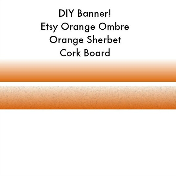 Orange Banner, Etsy Shop Banner, Etsy Store Banner, Orange Sherbet Cork, DIY Banner, Shop Branding, Etsy Marketing