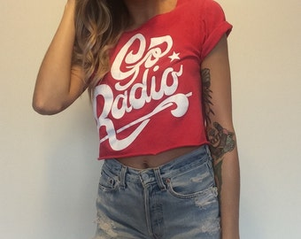 Go Radio Red Cropped Band Tee