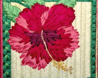 Hibiscus Silk Flower Needlepoint Basic Kit - 2nd in this Silk Flower series