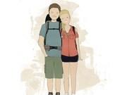 Couple's Portrait-Printable Custom Portrait-Digital Personalized Couples Illustration-Pet Custom Illustration-Couple's Anniversary Gift