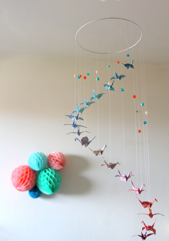 Mobiles pour bébé et Créations en Origami par mademoiselleorigami