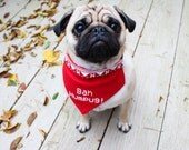 Christmas Dog Bandana, Christmas Dog Costume, Christmas Cat Bandana, Dog Bandana, Pug Bandana, Dog Dress up, Dog Costume, Pug Costume