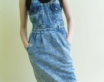 Denim rokker dress