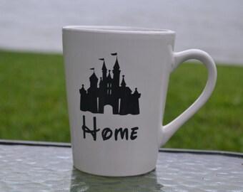 Disney Home Mug, Disney Mug, Disney Side Mug, Disney Vacation, Disney Trip, Disney Gift, Disney Castle Mug, Princess Mug, Home is Where