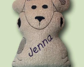 Personalized Fleece Softie Stuffed Fuzzy Puppy Dog Animal