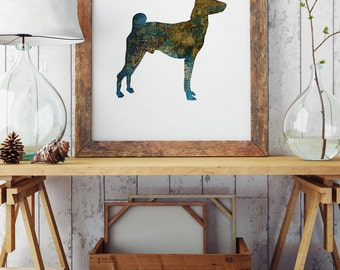 Dog Picture - Art Print - Wall Poster - Dog Illustration