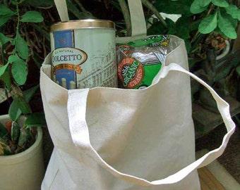 """Canvas Tote Bag 16"""" Natural"""