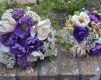 Plum & Champagne Bridal Bouquets