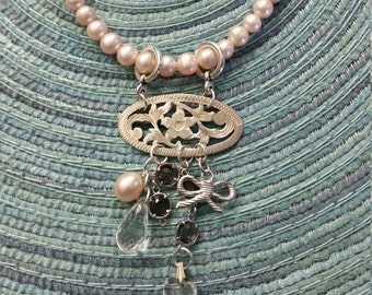 Pretty In Pearls Charm Necklace