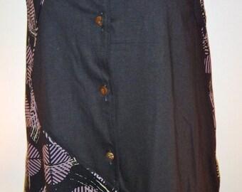 Contempary Purple Asian Design Sleeveless Tunic - FA13-047