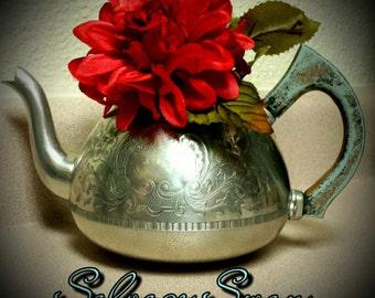 Shabby Chic Decor, Vintage Teapot, Tea Party, Shabby Nursery Decor, Teapot Centerpiece