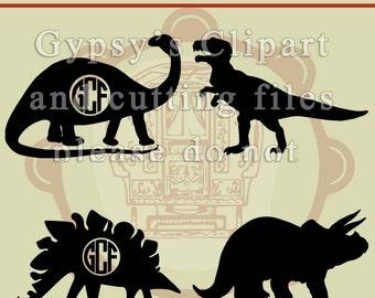 Dinosaurs svg, dinosaur monogram, brontosaurus, tyrannosaurus rex, stegosaurus,triceratops, Cutting Files, Vinyl, Clipart, Vector, SVG,
