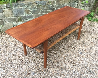 Danish Modern Mid Century Teak Coffee Table by Mobelintarsia