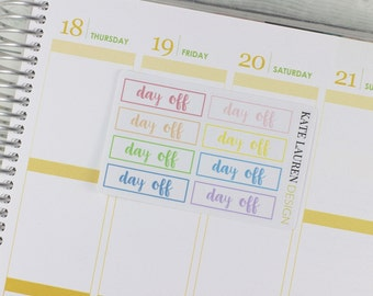 Day Off Planner Stickers for Erin Condren, Vacation Stickers, No School Stickers, No Work Stickers, Lazy Day Stickers