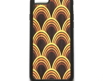 Retro iPhone Case, Rubber Phone Cover for iPhone 5/5S,  6/6S plus cases in Yellow, Orange and Brown