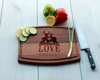 Personalized Cutting Board, Custom Cutting Board, Engrave Cutting Board, Monogramme Cutting Board, Custom Wedding Gift --CBA-MAH-ANDREWREESE