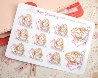 Kawaii Girl Student Decorative Stickers ~Valerie~ For your Life Planner, Diary, Journal, Scrapbook...